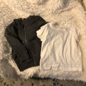 BUNDLE H&M BABY / TODDLER JACKET + T SHIRT 12M